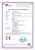 CE Certification (LVD)-Ring-11 Liquid Level Switch